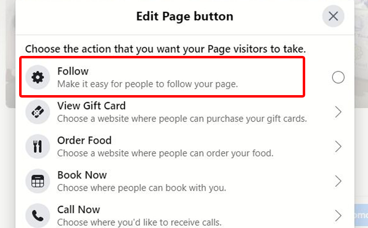 Edit Page Button Be Follow