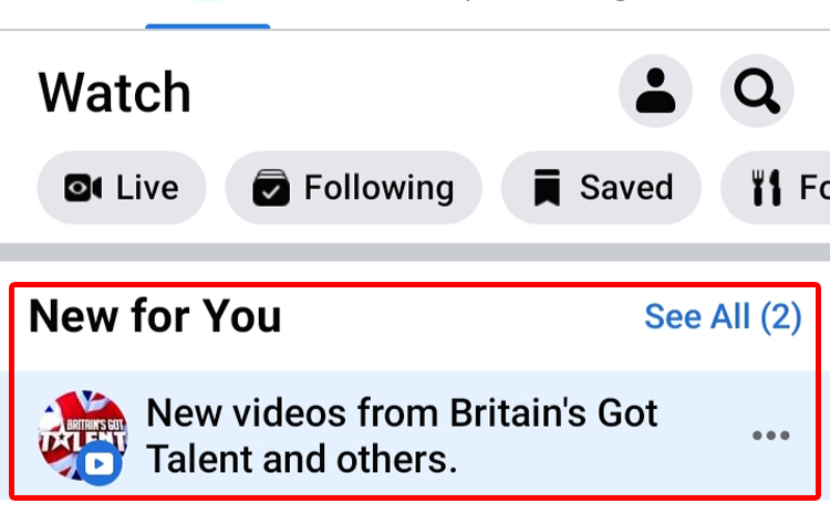 Recommended videos on Facebook Ad break