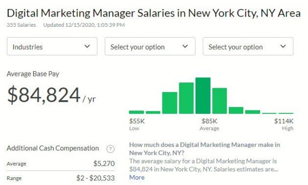 Digital Marketing Manager Salary