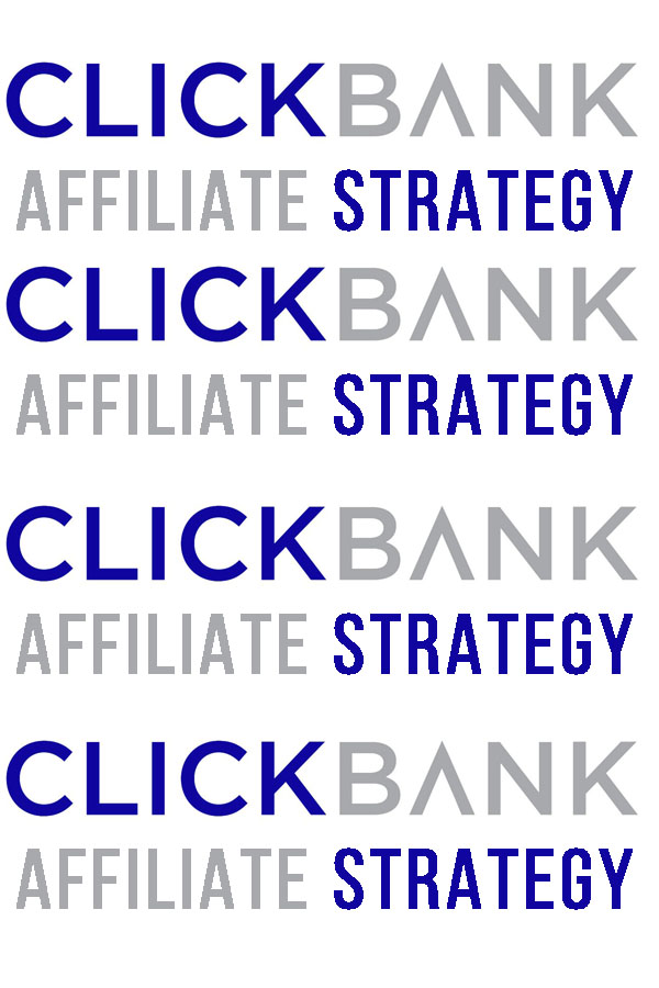 Clickbank affiliate strategy